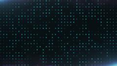 The looping background with blue glowing dots - stock footage