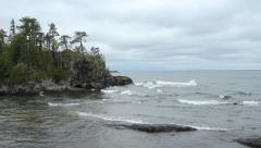 Lake Superior shoreline. Stock Footage