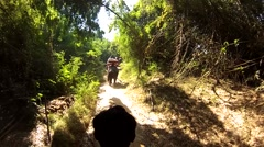 Riding on an elephant Stock Footage