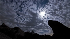 Mountain clouds dark time lapse Vasques Rocks 02 Stock Footage