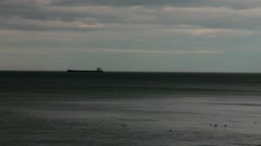 Whitley Bay. East coast of England at evening time Stock Footage