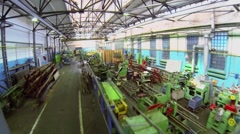 Worker sit in workshop in Special Automobiles Factory - stock footage