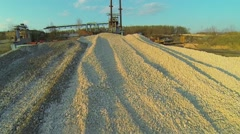 Pile of gravel near former asphalt-concrete plant Stock Footage
