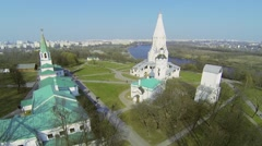 Architectural complex in museum preserve Kolomenskoe Stock Footage