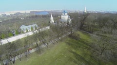 Architectural complex with Church of Kazan Icon of Mother of God Stock Footage