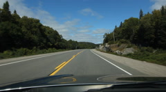 Sunny drive on HWY 17 in northern Ontario, Canada. Stock Footage