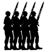 Soldier silhouette Piirros