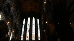 Glasgow Cathedral Interior Stock Footage