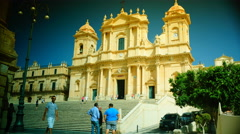 The cathedral of Noto. time lapse,4k Stock Footage