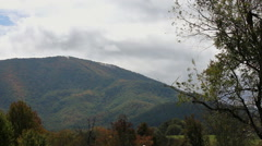 beautiful autumn mountain appalachia trees - stock footage