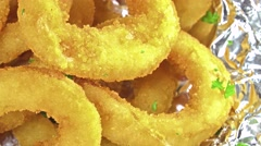 Onion rings (loopable) Stock Footage