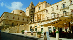 Italy, Sicily, Noto:SS. Salvatore Basilica, time lapse,4k Stock Footage
