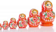 Traditional Russian Matryoshka Stock Footage