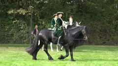 Classic cavalry big quadrille demonstration Stock Footage