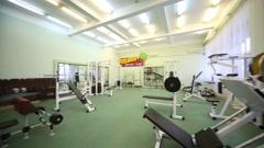 Modern Fitness room in Kolontaevo sanatorium. Stock Footage