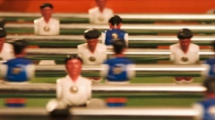 Table football. Closup of the playing process Stock Footage