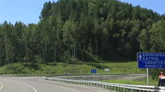 Travel along the roads of the altai krai. russia. Stock Footage