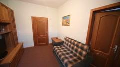 Living room of hotel suite in Kolontaevo sanatorium. Stock Footage