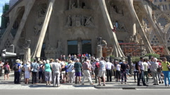Barcelona Spain Sagrada Familia construction climb 4K 029 Stock Footage