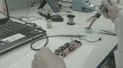 soldering electronics - stock footage