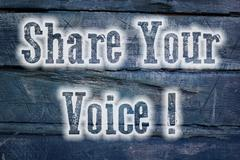 share your voice concept - stock illustration