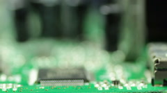 capacitor row on circuit - stock footage