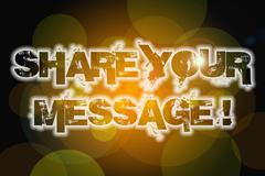 Share your message concept Stock Illustration