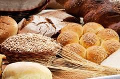 Spike and bread Stock Photos