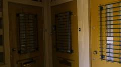 Anne Frank's front door Stock Footage