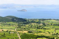 Stock Photo of bolsena lake from montefiascone