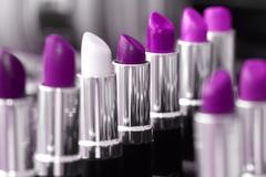 Close up photo of beautiful lipstick shades Stock Photos