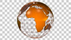 Orange Wired Globe - stock footage