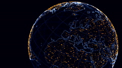 Rotating Dotted Globe - stock footage