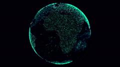 Green Digital Globe Stock Footage