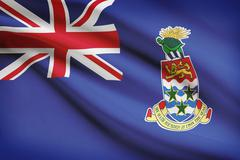 Flag blowing in the wind series - cayman islands Stock Illustration