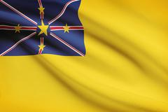 Flag blowing in the wind series - niue Stock Illustration