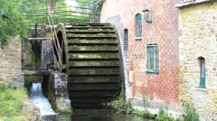 Mill wheel in motion Stock Footage