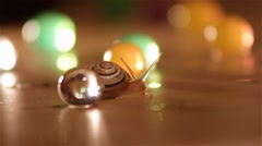 Snail Crawling Between the Balls part 2 - stock footage
