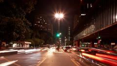 Avenida Paulista near Museum of Art MASP time lapse Sao Paulo Brazil Stock Footage
