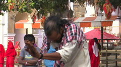 Divine dance Some Hindu devotees worshipping Goddess Durga at Kangra temple Stock Footage