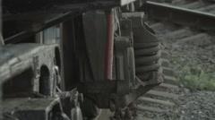 Railway wagon wheels Stock Footage