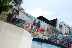 Stock Photo of painted murals