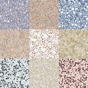 Set of granite seamless generated textures Stock Illustration
