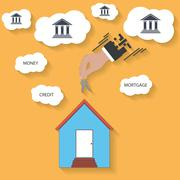 House keys in hand - mortgage concept Stock Illustration