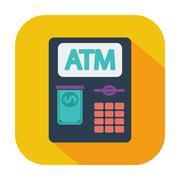 ATM icon - stock illustration