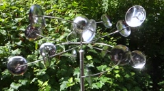 modern wind chime in a garden - stock footage