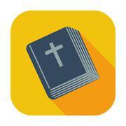 Bible single icon. - stock illustration