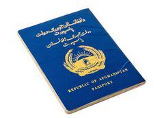 Republic of afghanistan passport isolated on white background Kuvituskuvat
