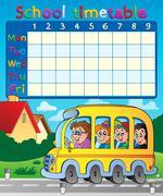 School timetable composition - illustration. Piirros