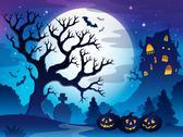 Stock Illustration of spooky tree theme image - illustration.